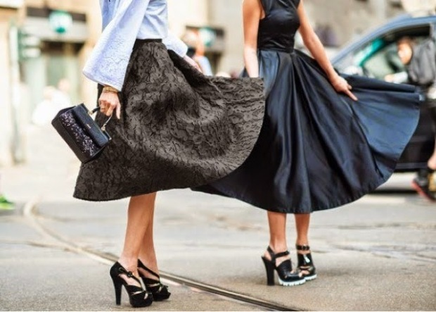midi skirt outfit como combinar falda midi streetstyle look ohmyblog blogger
